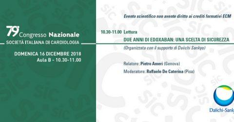 Presentati al congresso SIC i primi dati di real life utilizzo di edoxaban dal Registro ETNA-AF